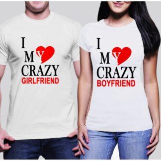 Комплект тениски за него и нея - CRAZY BOY & GIRL