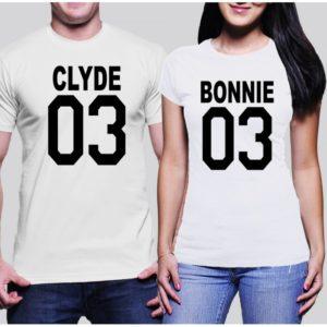 Комплект тениски - BONNIE & CLYDE