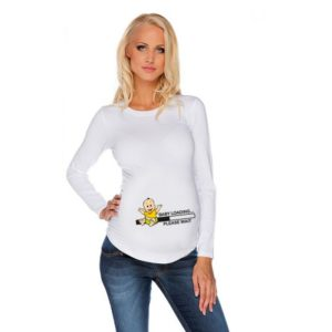 Дамска блуза с щампа за бременни – 06