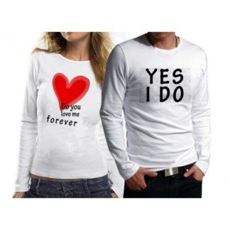 Комплект блузи за влюбени - DO YOU LOVE ME