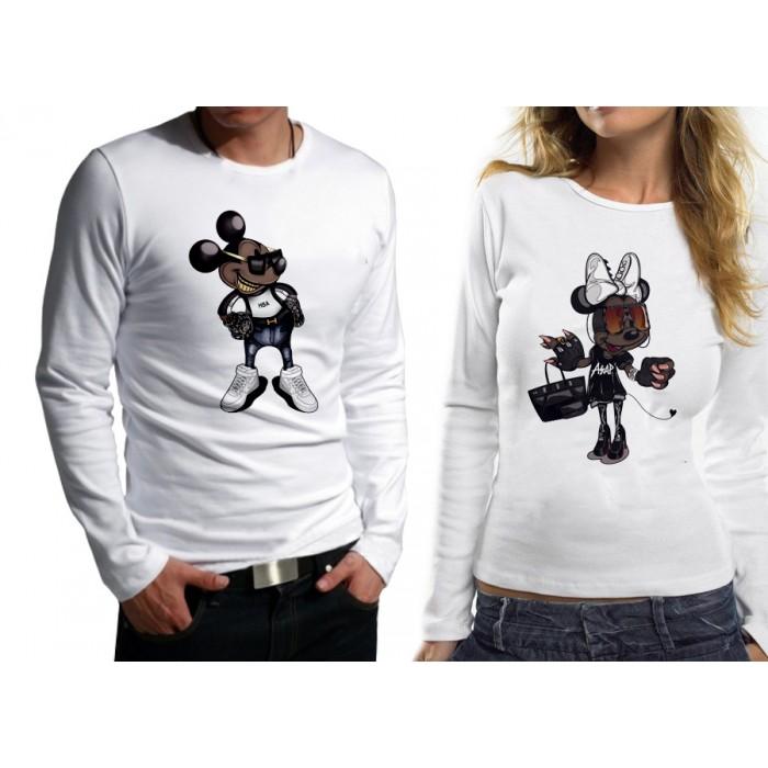 Комплект блузи за влюбени - MICKEY AND MINNIE MOUSE HARD