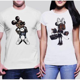 Комплект тениски за влюбени - HARD MICKEY И HARD MINNIE MOUSE