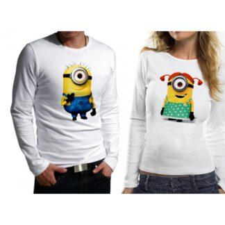 Комплект блузи за влюбени - MINIONS
