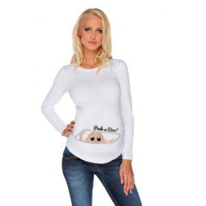 Дамска блуза с щампа за бременни – 05