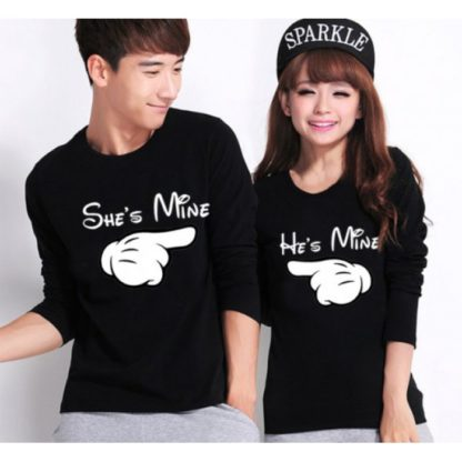 Комплект блузи за влюбени - SHE`S MINE & HE`S MINE