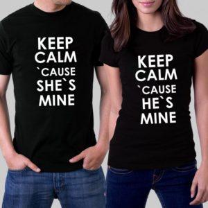 Комплект тениски за влюбени - KEEP CALM CAUSE
