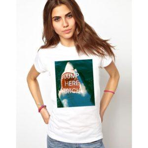 Дамска тениска - JUMP HERE BITCH
