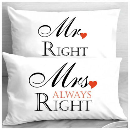 Калъфки за влюбени двойки – MR RIGHT & MRS ALWAYS RIGHT
