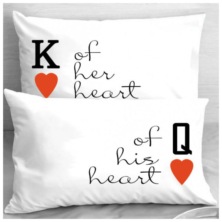 Калъфки за влюбени двойки – К & Q