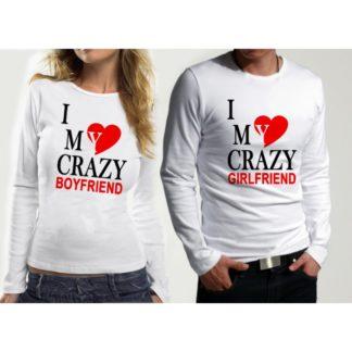 КОМПЛЕКТ БЛУЗИ ЗА ВЛЮБЕНИ – CRAZY BOY&GIRL