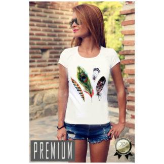 Дамска тениска PREMIUM-ART FEATHER