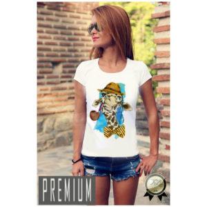 Дамска тениска PREMIUM-GIRAFFE HIPSTA