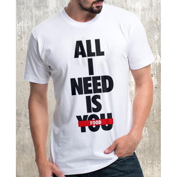 Мъжка тениска-ALL FOOD