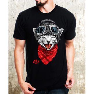 Мъжка тениска-CAT ROCK