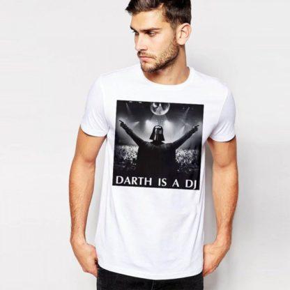 Мъжка тениска-DARTH IS A DJ