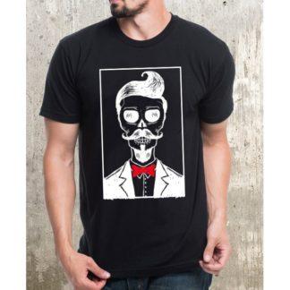 Мъжка тениска-HIPSTER SKULL 2
