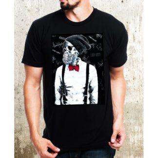 Мъжка тениска-HIPSTER SKULL