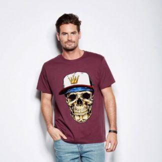 Мъжка тениска-SKULL BANDANA
