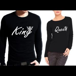 Комплект блузи за влюбени – KING QUEEN BACK