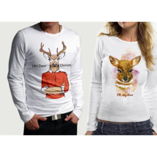 Комплект блузи за влюбени – XMAS DEER PR.1
