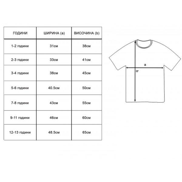 детски размери-тениски