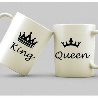 Чаши за влюбени-KING & QUEEN