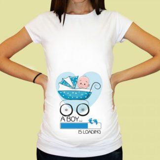 Дамска тениска с щампа за бременни – 23