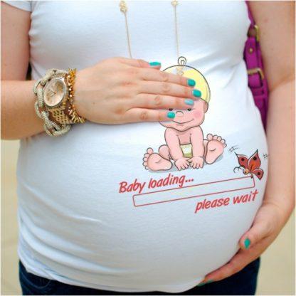 Дамска тениска щампа за бременни - 24