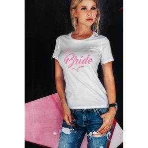 Тениска за моминско парти – BRIDE PINK MODA