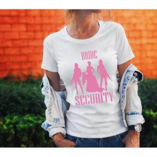 Тениска за моминско парти – BRIDE SECURITY