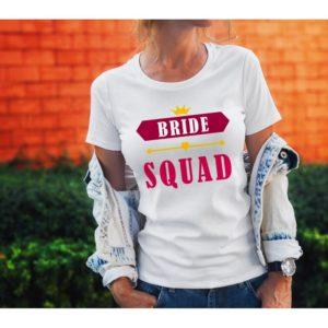 Тениска за моминско парти – BRIDE SQUAD