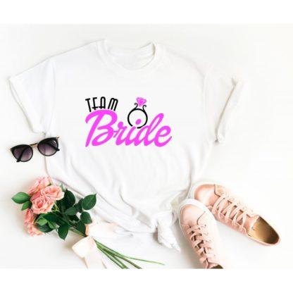 Тениска за моминско парти – TEAM BRIDE RING