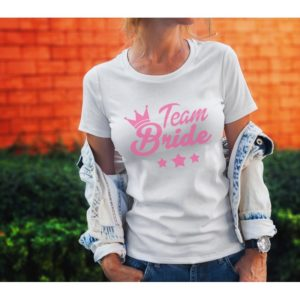 Тениска за моминско парти – TEAM BRIDE STARS