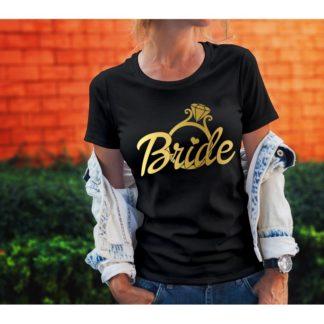 Тениски за моминско парти – BRIDE GOLD RING