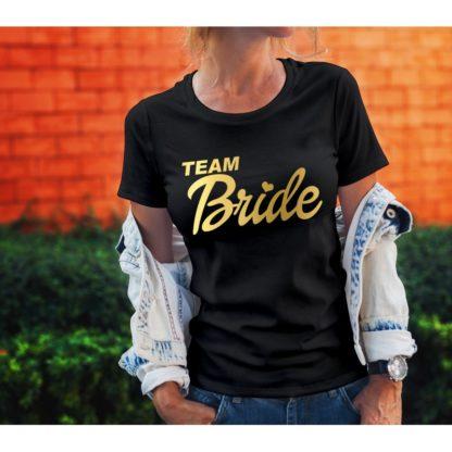 Тениски за моминско парти – TEAM BRIDE GOLD RING
