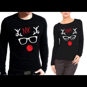 Блузи за влюбени Christmas Deer