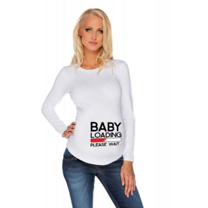 Дамска блуза щампа за бременни – 20