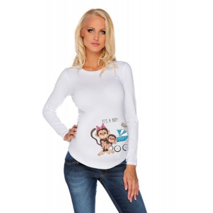 Дамска блуза щампа за бременни – 23