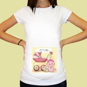 Дамска тениска щампа за бременни – 26