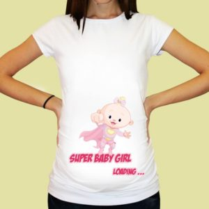 Дамска тениска щампа за бременни – 27