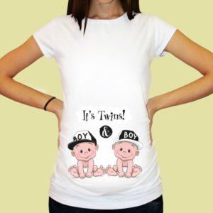 Дамска тениска щампа за бременни – 28