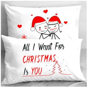 Калъфки за влюбени двойки - CHRISTMAS