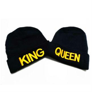 Комплект зимни шапки-King & Queen Gold
