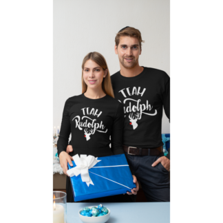 Комплект коледни блузи Team Rudolph Black