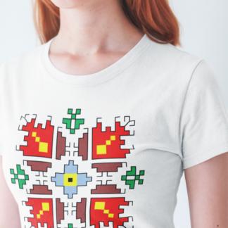 Дамска тениска с етно мотиви-07