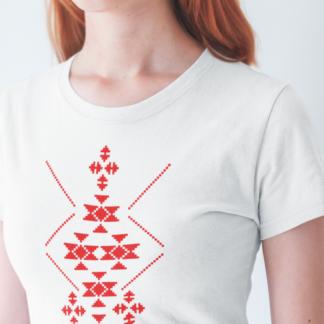 Дамска тениска с етно мотиви-09
