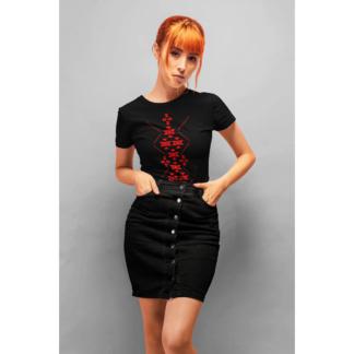 Дамска тениска с етно мотиви-10