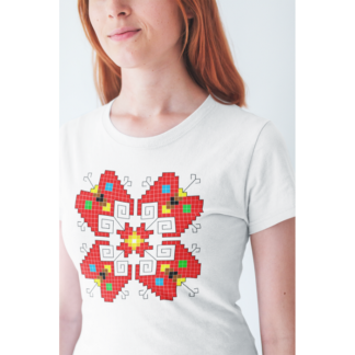 Дамска тениска с етно мотиви-11