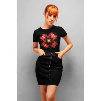 Дамска тениска с етно мотиви-12