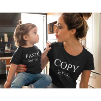 Комплект дамска и детска тениска или боди-COPY PASTE